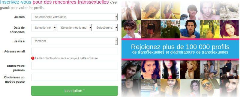 Comment s'inscrire et créér un compte sur mytranssexualsdate pour rencontrer des ladyboys