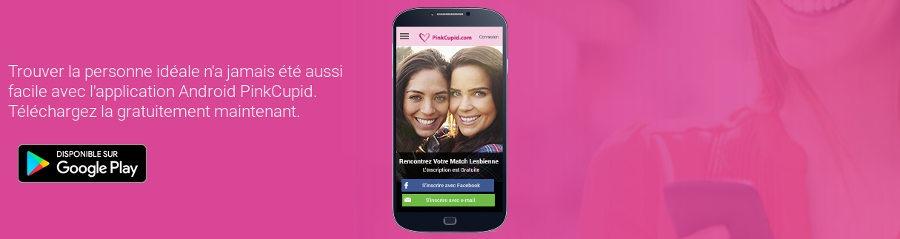 Pink Cupid possède une application pour utiliser le site de rencontre depuis votre téléphone